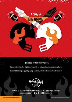 Sunday February 1st 2015 – Feel the emotions of #AmericanFootball! Watch the 49th edition of the #NFL Championship final in an all American atmosphere LIVE!!! Join us for an evening of #football, #food and #fun and come support your team with pride! #ThisIsHardRock