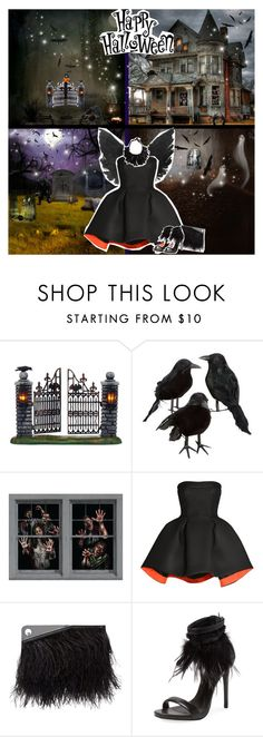 """""""Happy Belated Halloween"""" by chey-love ❤ liked on Polyvore featuring Department 56, Parlor, McQ by Alexander McQueen, Schutz, Monies, women's clothing, women, female, woman and misses"""