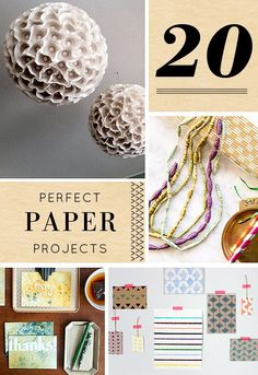 Perfect paper projects