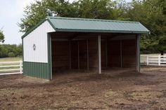 3705 - Morton Buildings paddock/ pasture shelter. Divider in the middle.