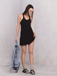 Flashback to 1991: I wore an XL black tank top with footless black fishnets + forest green birks. Thought I was THE SHIT