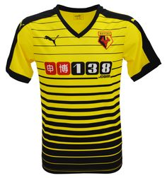 Watford Home Kit 15-16. I really like this design! Watford is a pretty good team, they're cool.