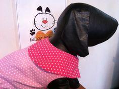 cuello chaleco puntos rosados