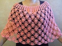 Chal con sisas triangular multiusos tejido en nudo salomon a crochet / English subtitles! - YouTube