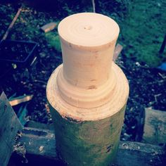 Trying out a new mandrel for turning shrink pots. Both mandrel and log about to be turned are ash. #stovelldesign  #aptgw #craft #realcraft #handmade #madeinengland #handmadeinengland #artisan #designermaker #design #craftdesign #designer #maker #greenliving #sustainableliving #sustainability #sustainabledesign #woodworker #woodshop #greenwood #greenwoodworker #greenwoodworking #makersmovement #favehandmade #livingthegoodlife