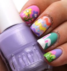 Nail Art Designs For Easter Modern and Trendy Reny styles - hair color Winter bunt Holiday Nail Designs, Holiday Nails, Christmas Nails, Nail Art Designs, Nails Design, Spring Nails, Summer Nails, Hair And Nails, My Nails
