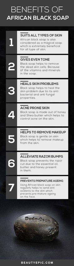 Top 12 Beauty Benefits of African Black Soap for Skin & Hair Benefits of African Black Soap Make sure that you are buying real black soap. The fake kind will damage your skin. The one made by Shea butter is fake! Black soap is never smooth or black. Perfectly Posh, Skin Tips, Skin Care Tips, Anti Aging Skin Care, Natural Skin Care, Natural Hair, Diy Savon, Organic Skin Care Lines, African Black Soap