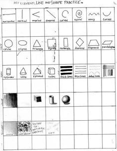 Free Op Art/Line Design worksheet, Bridget Riley slideshow