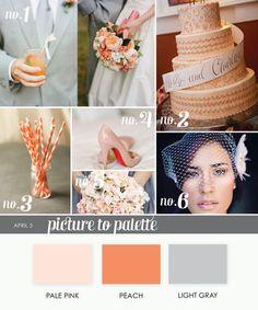 Des nuances d'orange..... Aujourd'hui, le pêche - corail l'orange pastel - The Wedding Tea Room