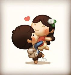 I love you. I've been thinking of you all day. I send you a big hug. I love you with all my heart Josué. Cute Love Stories, Cute Love Images, Love Story, Hj Story, Love Quotes For Him, Cute Quotes, Ah O Amor, Cute Love Cartoons, Couple Cartoon
