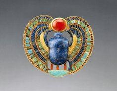 Scarab Beetle Broach - Tutankhamun Exhibition
