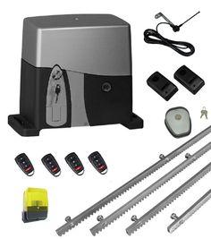 Σετ για συρόμενη γκαραζόπορτα με μοτέρ VDS SL1600-OIL, για έως 1600 κιλά πόρτα και εντατική χρήση, ενσωματωμένο πινακοδέκτη S5060T, 4m μεταλλική κρεμαγιέρα, 1 ζευγάρι φωτοκύτταρα ασφαλείας, 1 φανό, 1 κεραία εξωτερική, 1 μπουτόν κλειδί και 4 τηλεχειριστήρια PSD-36T. Περιλαμβάνονται: βάση και υλικά στηριξης, λαμάκια τερματικών διακοπτών, κλειδιά αποσύμπλεξης, οδηγίες εγκατάστασης στα Ελληνικά κλπ. Tools, Instruments
