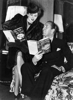 Joan Fontaine and Brian Aherne - Her first marriage was to actor Brian Aherne. They married in 1939 in Del Monte, California and divorced in April 1945.