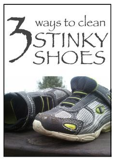 3 ways to clean stinky shoes. Once the teenagers refuse to wear boots or where no socks in their shoes during the warmer months you WILL NEED these tips! Clean Tennis Shoes, Clean Shoes, Deep Cleaning, Cleaning Hacks, Cleaning Solutions, How To Wash Shoes, Stinky Shoes, Chanel, Hacks