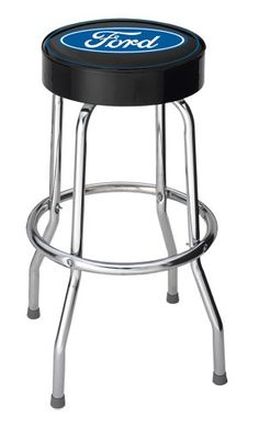 Ford Blue Oval Garage Stool - http://www.caraccessoriesonlinemarket.com/ford-blue-oval-garage-stool/  #Blue, #Ford, #Garage, #Oval, #Stool #Garage-Shop, #Tools-Equipment