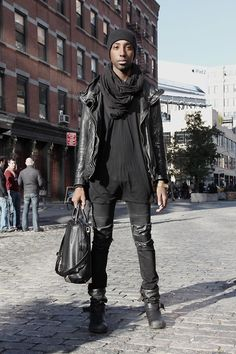 """Inspired by the shoes, pants, and bag. (""""Seen and not seen."""" by Travis Jones on LOOKBOOK.nu)"""