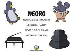 color negro - Juegos infantiles Reggio Emilia, Spanish Teaching Resources, Preschool Literacy, Activities For Kids, Disney Characters, Fictional Characters, Childhood, Language, Classroom