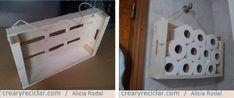 3 ideas con huacales para organizar - Crear y Reciclar Toilet Paper, Diy, Upcycle, Organize, Create, Places, Do It Yourself, Bricolage, Handyman Projects