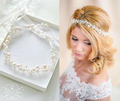 Brautkranz Haarschmuck echte Perlen Haarkranz  von Princess Mimi  auf DaWanda.com