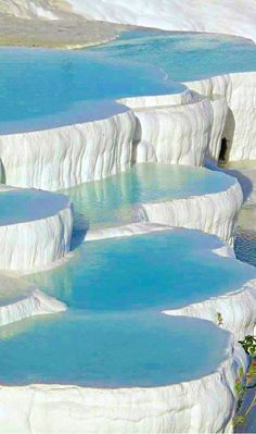 Pisines Travertine Pools of Pamukkale, Turkey