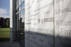 Graphic Concrete referenssi: Rødkilde Gymnasium