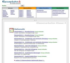 Mathematik Klasse 9 - Klassenarbeiten mit Lösungen - ausdrucken, lösen und Lösungen vergleichen.