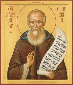 St Alexander Svirskiy  / Иконописно-реставрационная мастер..