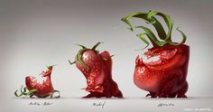 Deadly Strawberries by James Martin | Creatures | 2D | CGSociety