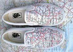 Vans Slip On LA Map Customs by Rad Is Rad - Can I get Mpls/StPaul?