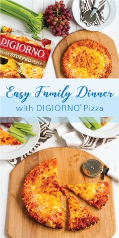 One of our go-to dinners are those insanely busy weeknights that pop up every now and then is stuffed crust pizza from the freezer! Whole Food Recipes, Diet Recipes, Cooking Recipes, Healthy Recipes, Pizza Recipes, Healthy Herbs, Healthy Snacks, Healthy Eating, Easy Family Dinners