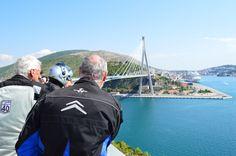 Franjo Tudjman Bridge in Dubrovnik www.motorcycle-tours.travel