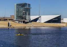 https://flic.kr/p/DTdUr2   Doing a Little Rowing   A little competition going on the Oklahoma River in Oklahoma City.