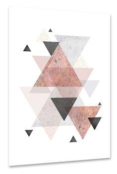 Geometric Print Geometric Poster by UrbanEpiphanyPrints on Etsy Scandi Art, Scandinavian Modern, Geometric Poster, Geometric Wall Art, Blush Rosa, Blush Pink, Pink Grey, Pink Wall Art, Pink Home Decor