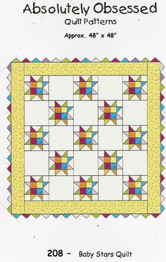 Baby Stars Quilt Pattern ONLY