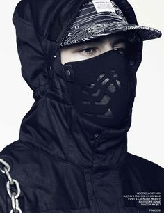 hooded jacket with built in smog-mask by c.p. company
