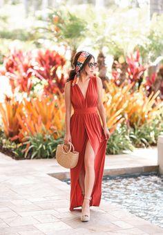 boho elegant style beach wedding outfit resort vacation dress