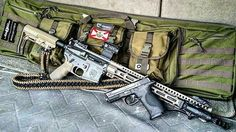"""@Regrann from @article_ii_firearms -  Some new stuff to show off! Double rifle case (42"""") by @dragogear, is currently holding 6 pistol mags plus my M&P9, 10 PMAG30s, a @1_pro_shot_products portable clean and lube kit and at the moment, the one rifle with the new @inforce01 WML White LED Weapon Light. Also new is the badass #allergictobullshit FDE and black 2 point paracord sling by @arpowercord! Got a few others today as well, will get some of those pics up soon! #Regrann #Regrann"""
