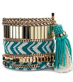 gorgeous gold and teal bracelet http://rstyle.me/n/qb93npdpe