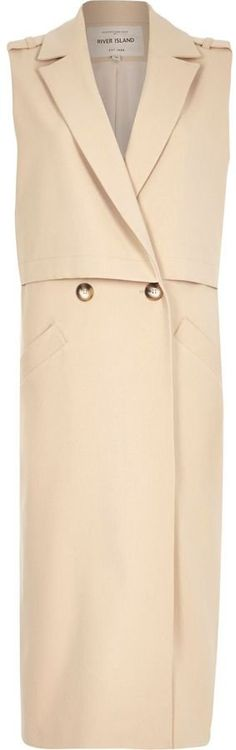 Pin for Later: Nab Your Favourite Trench Coat Before It Sells Out River Island Beige Structured Sleeveless Trench Jacket River Island Beige Structured Sleeveless Trench Jacket (£75)