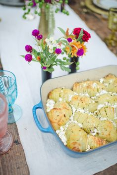 Goat Cheese & Rosemary Potatoes