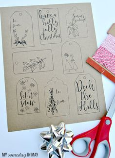 Free Printable Christmas Gift Tags | Ella Claire