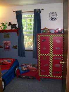 Smallest bedroom in America - Disney Cars theme
