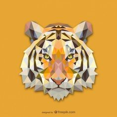 Triangle Tiger Design on Behance Low Poly Art, Art Design, Animal Art, Geometric Animals, Tiger Design, Tiger Vector, Vector Free, Geometric Tiger, Polygon Art