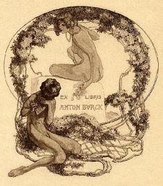 Franz von Bayros  Ex Libris- 蔵書票 Bayros Room  バイロスの部屋 Room  2-035 1918