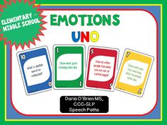 This card game incorporates zone of regulations challenging kids to think about how they feel like and look like in certain zones.
