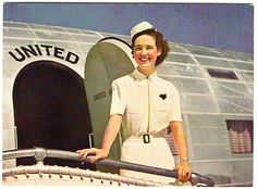 Stewardess for United Airlines c.1940s