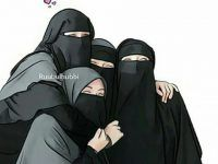 Gambar Kartun Muslimah Bercadar Bersama Teman Hijab Cartoon, Cartoon Boy, Hijabi Girl, Girl Hijab, Muslim Girls, Muslim Women, Hijab Drawing, 3 Best Friends, Manga Eyes