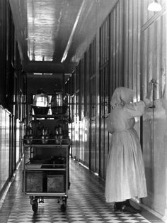 Nurse Distributing Meals in Diphtheria Section of Contagious Disease Hospital at Pasteur Institute