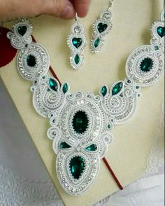 Soutache Necklace, Tassel Earrings, Crochet Earrings, Shibori, Beaded Embroidery, Boho Jewelry, Jewerly, Creative, Handmade