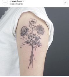 Bouquet tat on arm